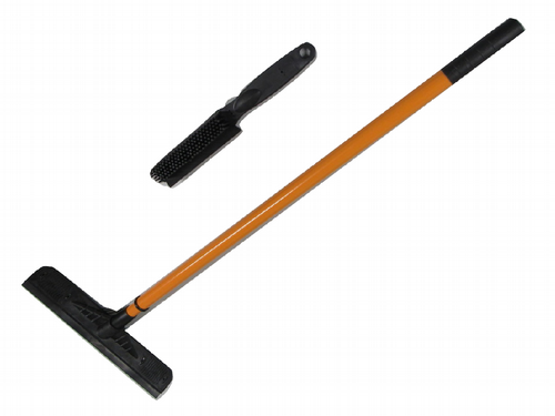 Rubber Broom & Brush Set - Remove Pet Hair Lint Sweeping Squeegee Telescopic